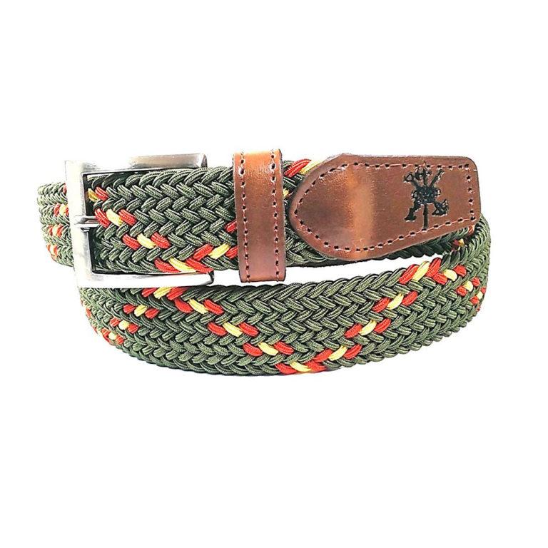Cinturón de lona combinado con piel de La Legión