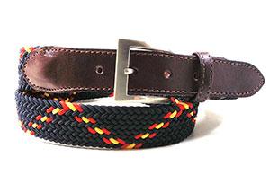 cinturon cuero bandera de españa