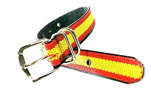 collar de perro con la bandera de españa de nylon