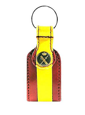 llavero de la guardia civil con la bandera de España