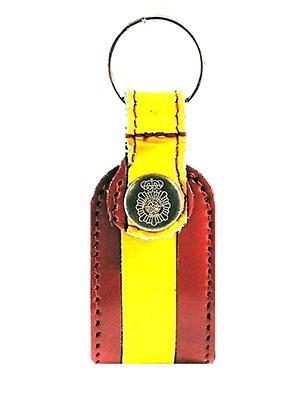 llavero con logo de la policia local con la bandera de España