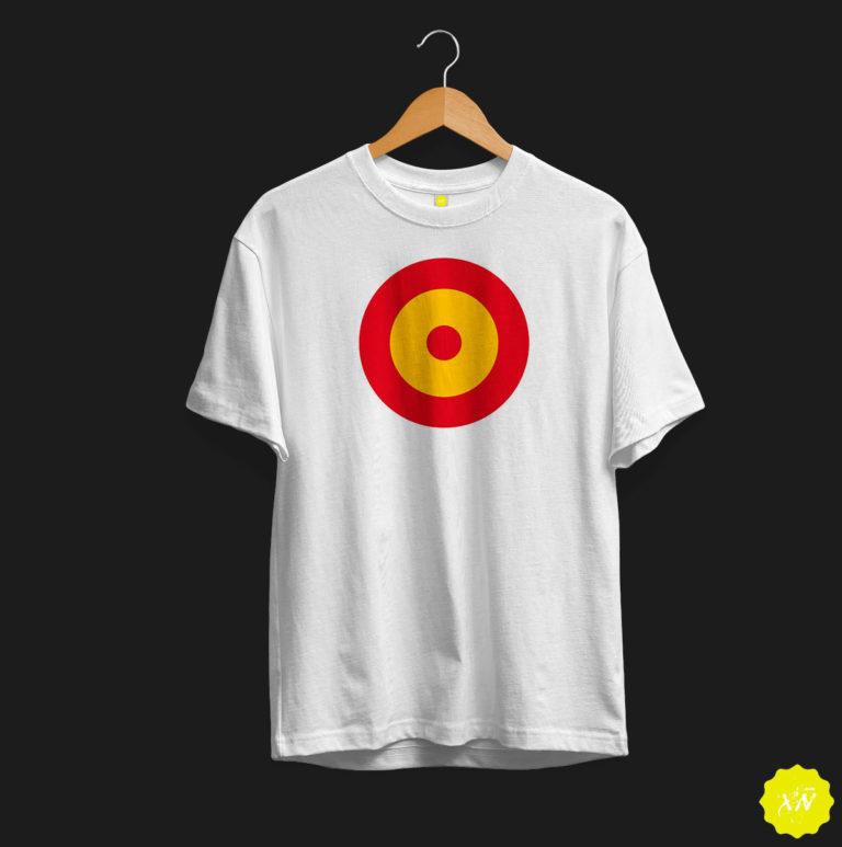 Camiseta con diana en el centro