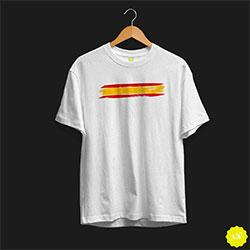 Camiseta bandera de España en el pecho