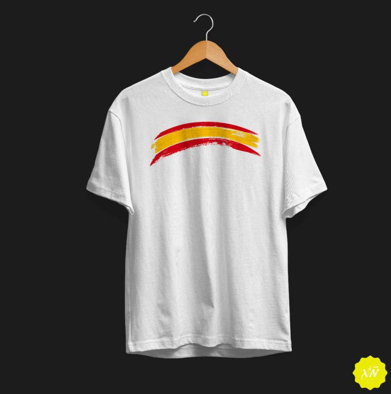 camiseta bandera arqueada