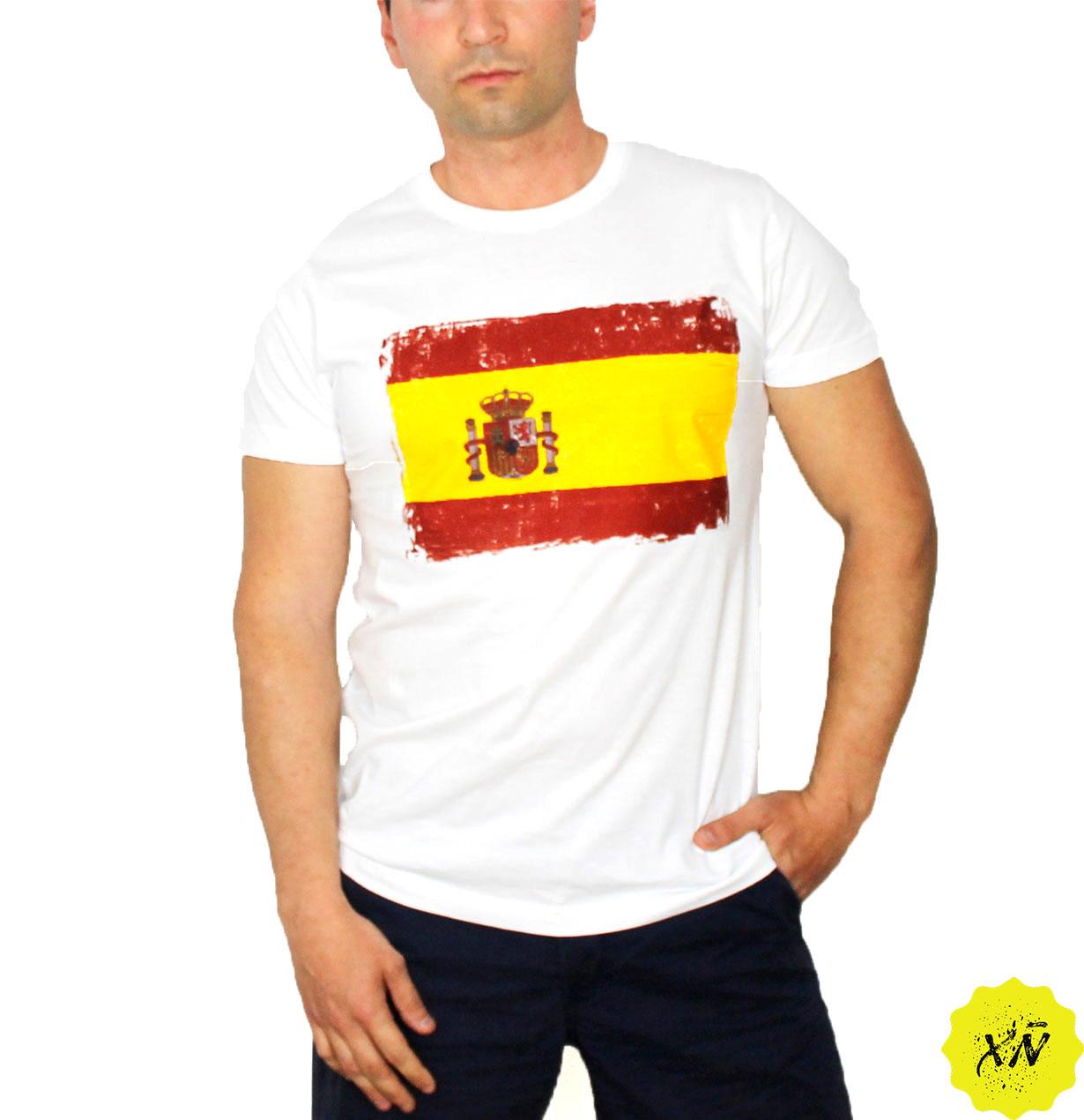 Camiseta básica con la bandera de España