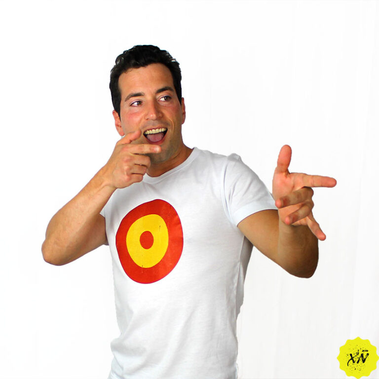 camiseta con diana del ejército del aire de España
