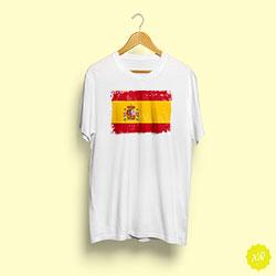 Camiseta básica con el escudo de España