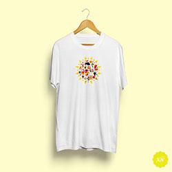 Camiseta temática de España con forma de sol