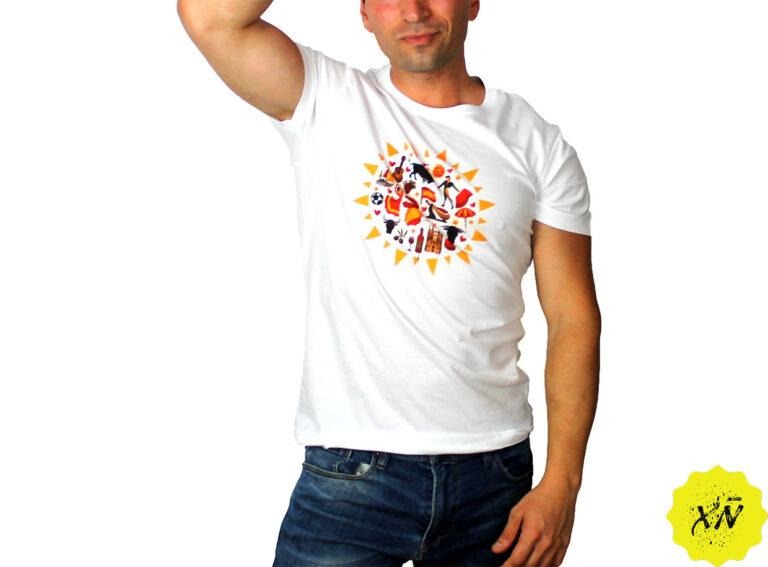 camiseta sol de España