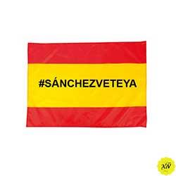bandera de España Sanchez vete ya
