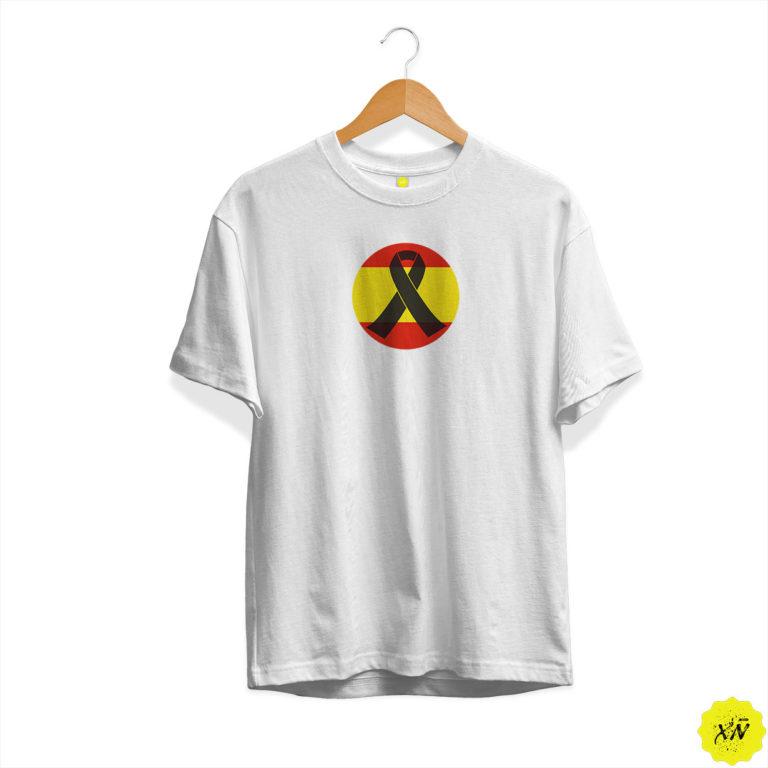 Camiseta de España circulo con crespón negro