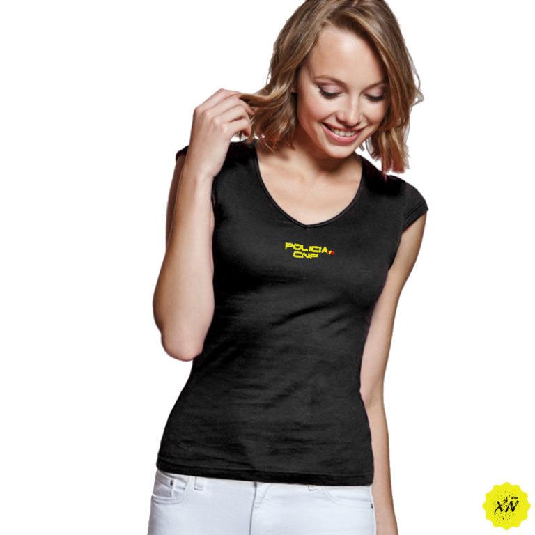 Camiseta mujer cnp negro