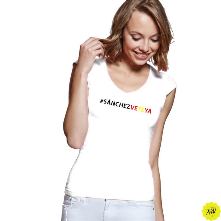 Camiseta mujer vete ya Sánchez
