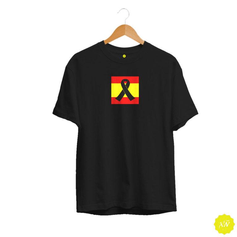 Camiseta negra España con crespón negro