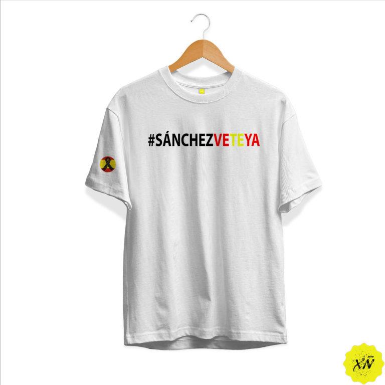 Camiseta vete ya Sánchez con crespon negro