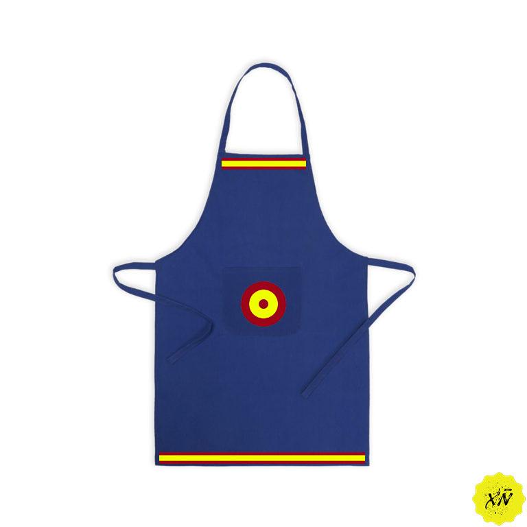 delantal cocina con bandera de España