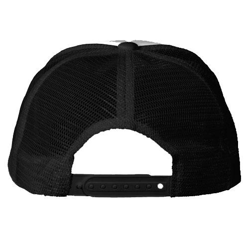 gorra color negro parte trasera