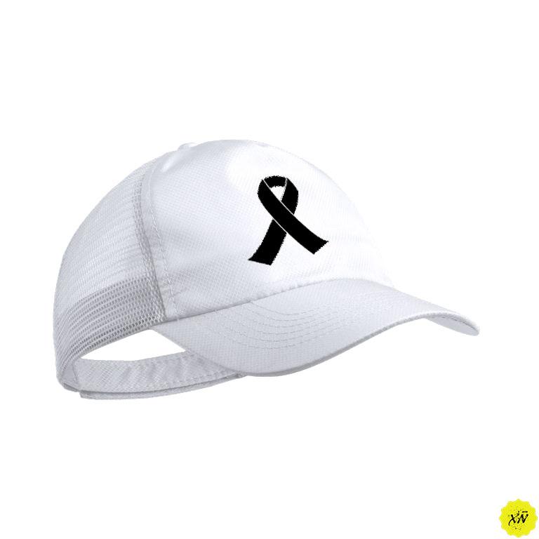 Gorra con crespon negro