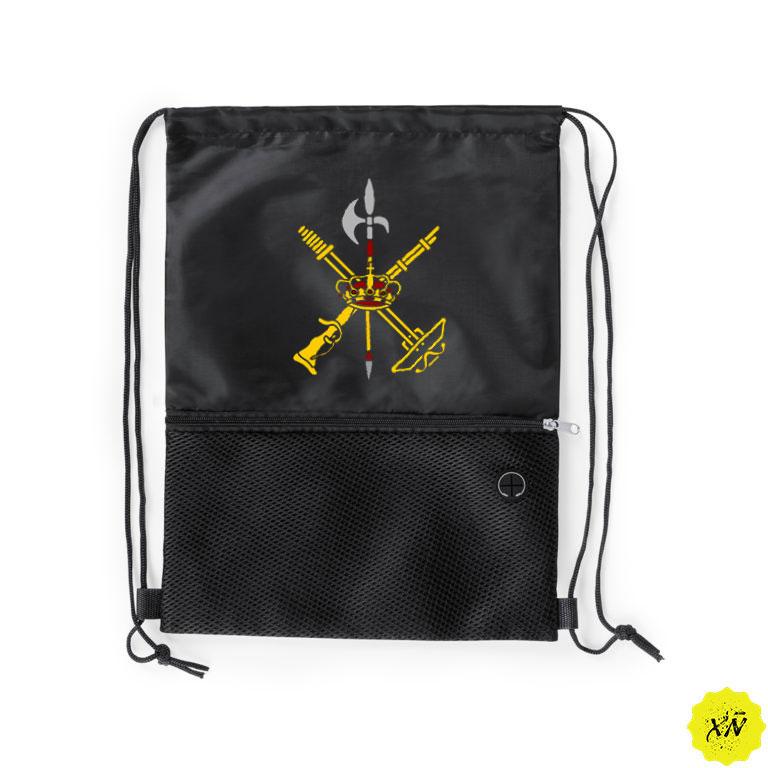 mochila piscina negra escudo Legión