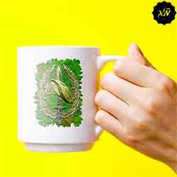 taza de ceramica con escudo de la BOEL
