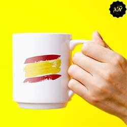taza cerámica con bandera de España