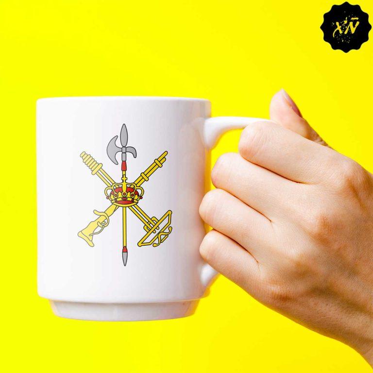 taza ceramica con escudo de La Legion española