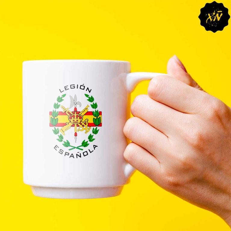 taza de ceramica con escudo Legion