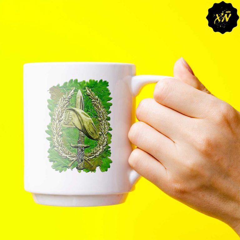 taza de ceramica con escudo BOEL