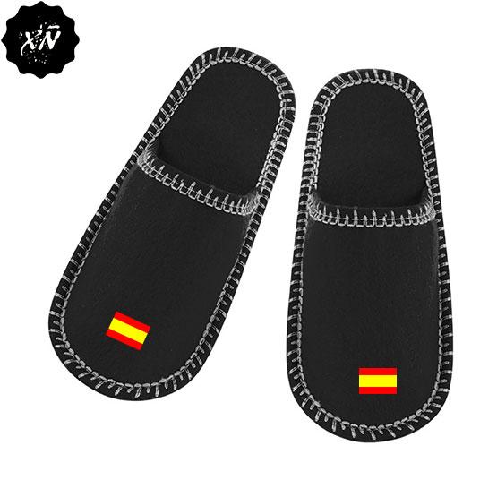 zapatillas de andar por casa con la bandera española