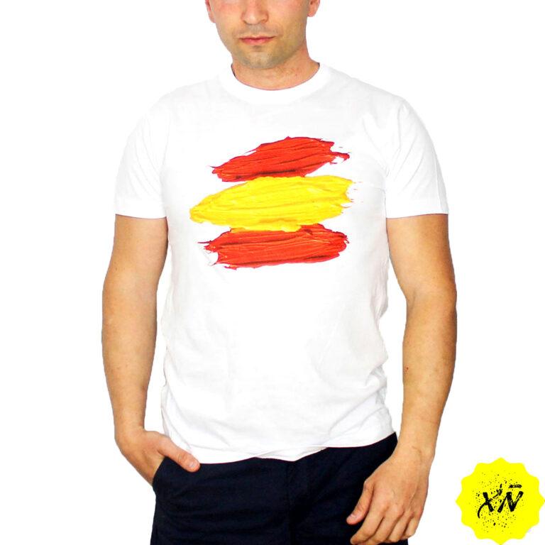 camiseta con la bandera España pintada