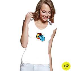 camiseta mujer labios España