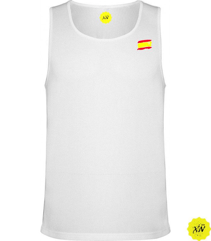 camiseta sin mangas con la bandera de España