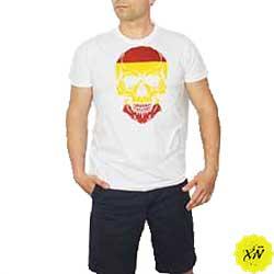 camiseta con calavera de España