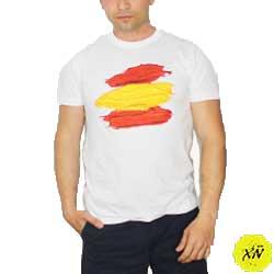 camisetas con la bandera España brocha