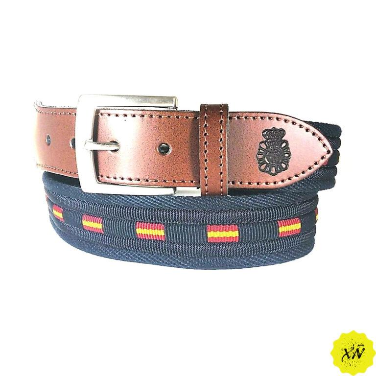 cinturón de España escudo Policía Nacional cuero