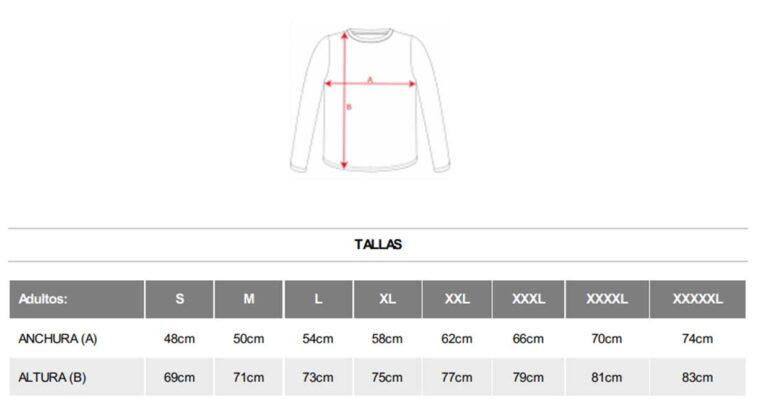 medidas camisetas España premium