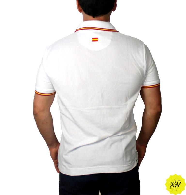 Polo bandera España Blanco