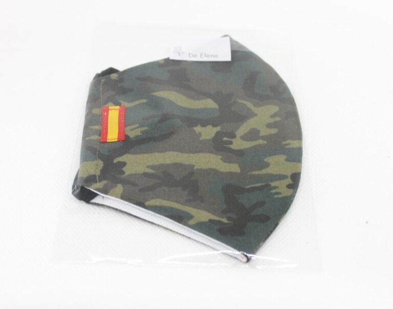 mascarilla militar con bandera española bordada