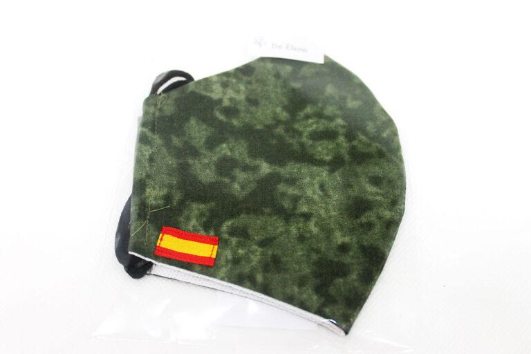 mascarilla bandera España color militar