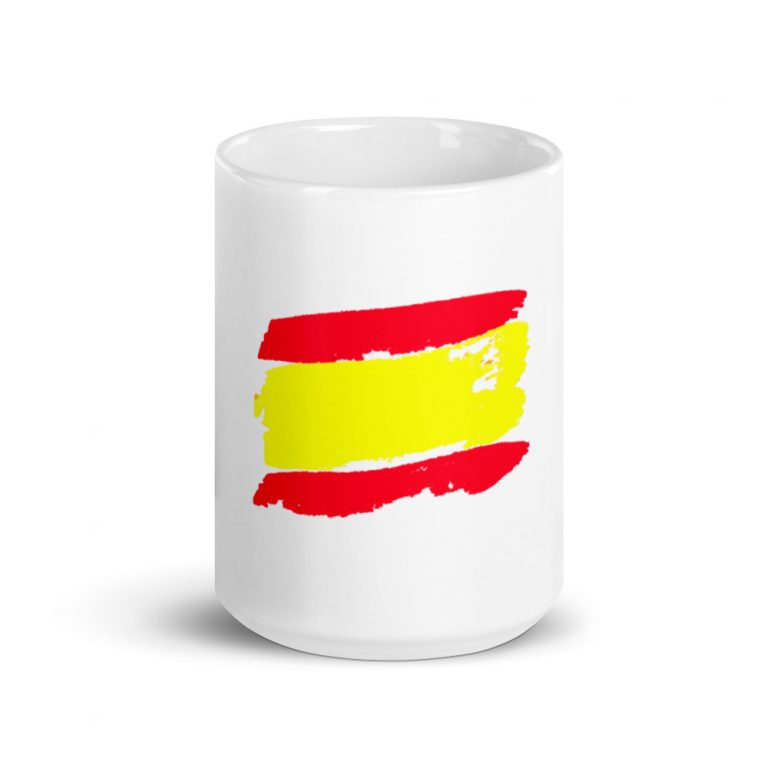 Taza con bandera de España