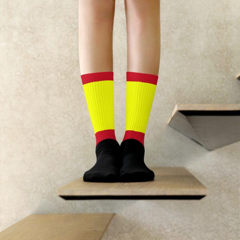 Calcetines largos con la bandera de España