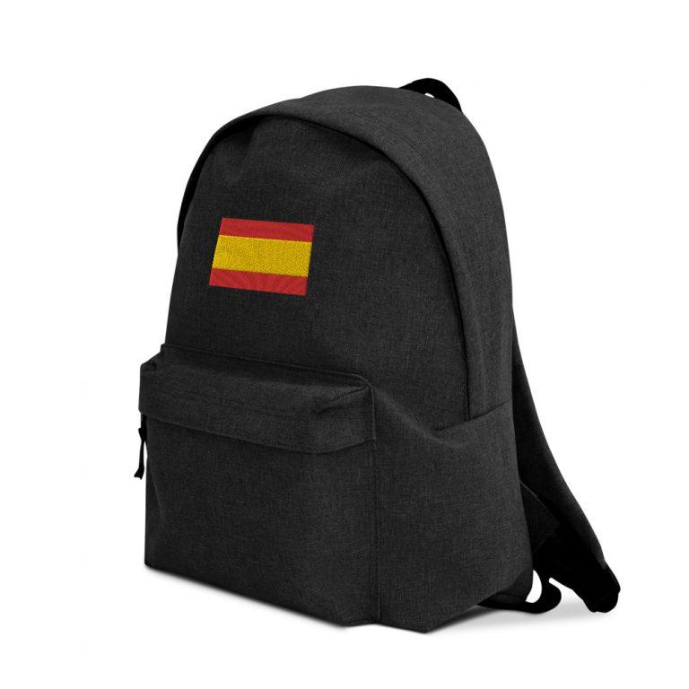 Mochila bandera de España bordada