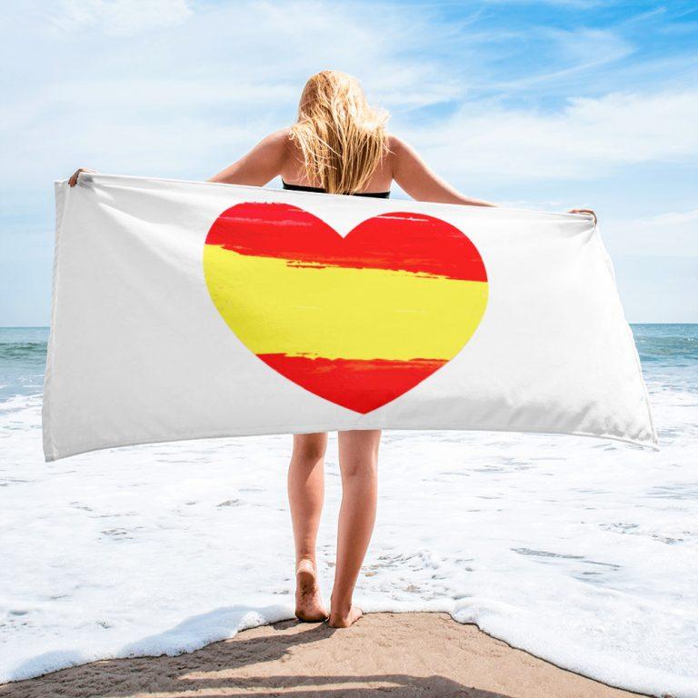 Toalla playa corazón España