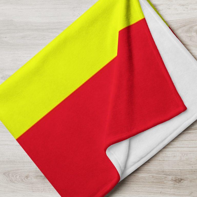 Manta con la bandera de España