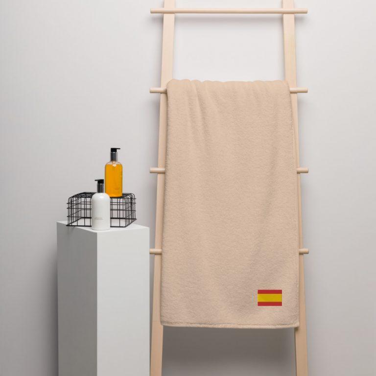 Toalla de algodón con bandera de España